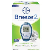 BAYER Breeze 2 Meter Kit - Blood Glucose Monitoring System, Breeze 2 Meter Kit No Coding Glucose Meter Kit